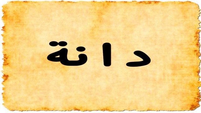 معنى اسم دانة في اللغة العربية