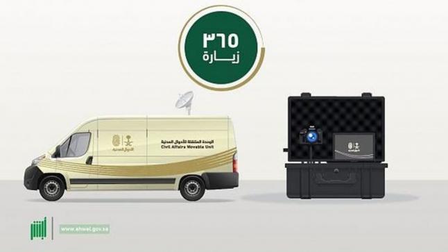 الأحوال المدنية المتنقلة تنفذ 365 زيارة خلال شهر ربيع الأول في مختلف مناطق المملكة