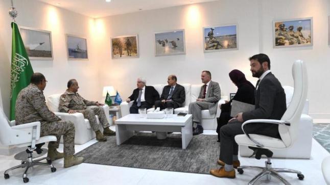 المبعوث الأممي الخاص إلى اليمن يزور قائد قوات التحالف العربي لمناقشة أخر التطورات