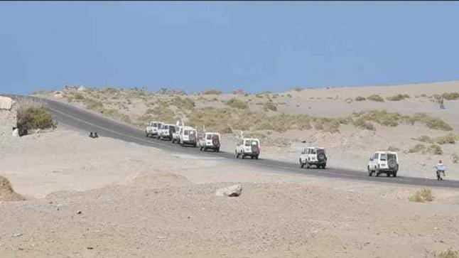 قافلة الصليب الأحمر الغذائية والطبية تصل إلى مدينة الدريهمي اليمنية المحاصرة